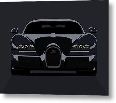 Bugatti Veyron Dark Metal Print