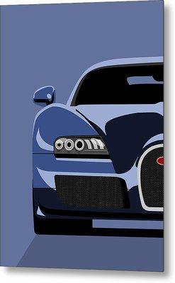Bugatti Veyron Metal Print by Michael Tompsett