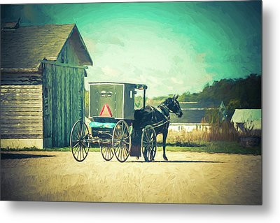 Metal Print featuring the photograph Buggy Ride by Joel Witmeyer