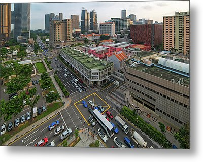 Bugis Village Junction In Singapore Entertainment District Metal Print by David Gn