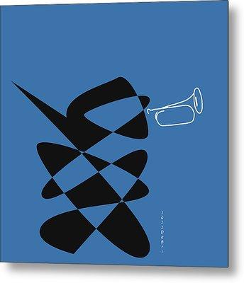 Bugle In Blue Metal Print by David Bridburg