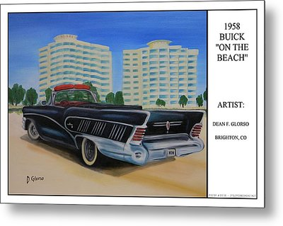 Buick On The Beach Metal Print by Dean Glorso