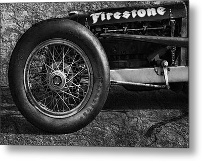 Buick Shafer 8 Bw Metal Print by Peter Chilelli