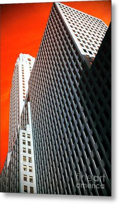 Building Angles Pop Art Metal Print by John Rizzuto