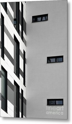 Metal Print featuring the photograph Building Block - Black And White by Wendy Wilton