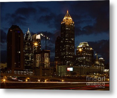 Metal Print featuring the photograph Building Boom Midtown Atlanta Construction Art by Reid Callaway