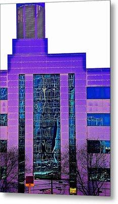Building In Purple Metal Print by Gillis Cone