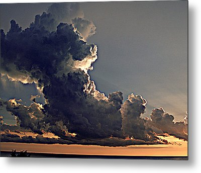 Building Storm Clouds Metal Print