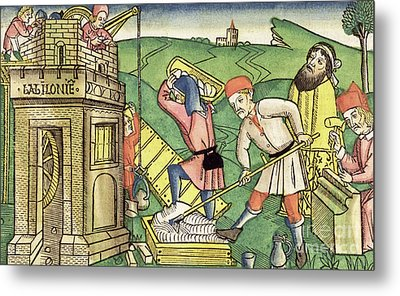 Building The Tower Of Babel Metal Print