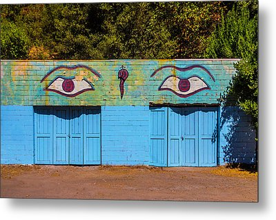 Building With Eyes Metal Print by Garry Gay