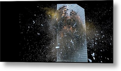 Building_explosion Metal Print by Marcia Kelly