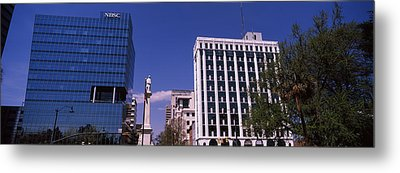 Buildings Near Confederate Monument Metal Print by Panoramic Images