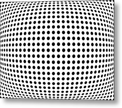 Bulge Dots Metal Print