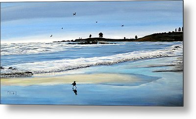 Bull Beach 2 Metal Print by Marilyn McNish