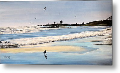 Bull Beach Metal Print by Marilyn McNish