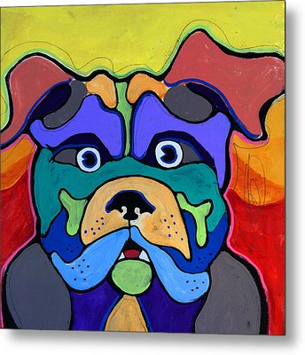 Bull Dog - Don't Give Me Your Lines , And Keep Your Hands To Yourself Metal Print