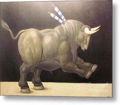 bull painting Botero Metal Print