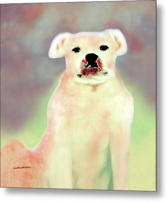 Bulldog Rana Art 43 Metal Print
