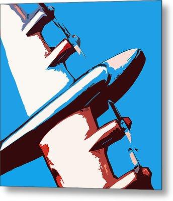 Bullet Plane Metal Print by Slade Roberts