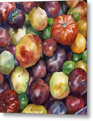 Metal Print featuring the painting Bumper Crop Of Heirlooms by Anne Gifford