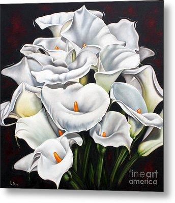 Bunch Of Lilies Metal Print by Ilse Kleyn