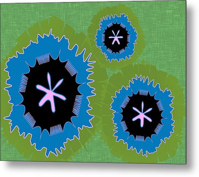 Metal Print featuring the digital art Bunny Flower by Kevin McLaughlin
