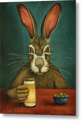 Bunny Hops Metal Print by Leah Saulnier The Painting Maniac