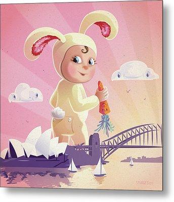 Bunny Mae Metal Print by Simon Sturge