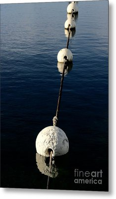 Metal Print featuring the photograph Buoy Descending by Stephen Mitchell