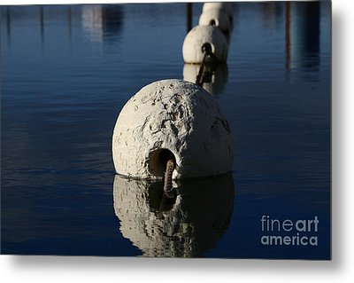 Metal Print featuring the photograph Buoy Upfront by Stephen Mitchell