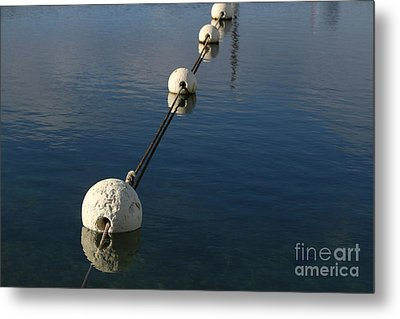 Metal Print featuring the photograph Buoys In Aligtnment by Stephen Mitchell