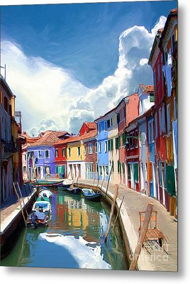 Burano Canal Metal Print by Tom Griffithe