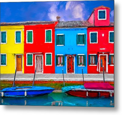 Metal Print featuring the photograph Burano Colorful Houses by Juan Carlos Ferro Duque