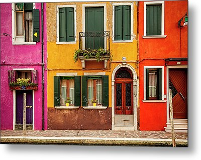 Burano Colors Metal Print by Andrew Soundarajan