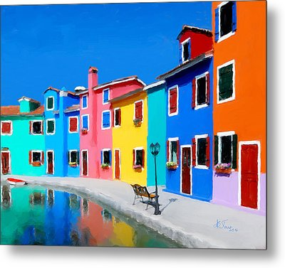 Metal Print featuring the photograph Burano Houses.  by Juan Carlos Ferro Duque