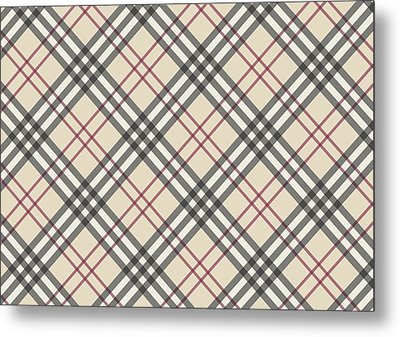 Burberry Pattern Metal Print