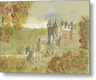 Burg Eltz Castle Metal Print by Juan Bosco