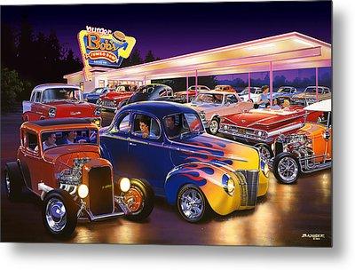 Burger Bobs Metal Print by Bruce Kaiser