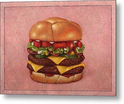 Burger Metal Print by James W Johnson