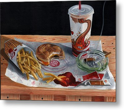 Burger King Value Meal No. 2 Metal Print by Thomas Weeks