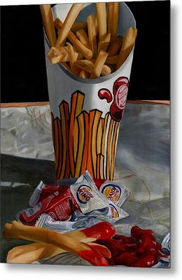 Burger King Value Meal No. 5 Metal Print by Thomas Weeks