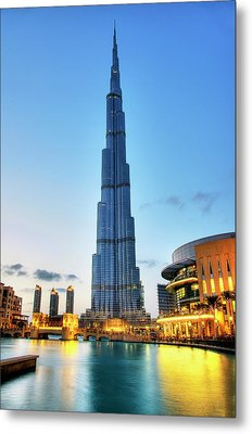 Burj Khalifa Sunset Metal Print