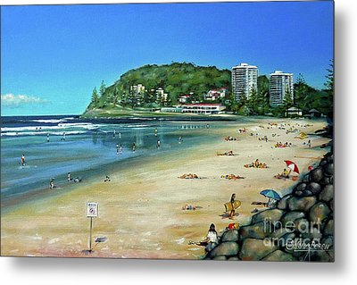 Metal Print featuring the painting Burleigh Beach 100910 by Selena Boron