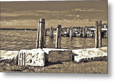 Burlington Pier Metal Print