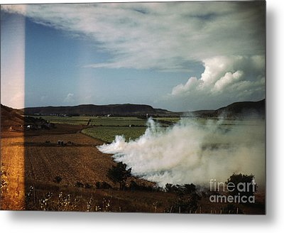 Burning A Field Of Sugar Cane Metal Print by Celestial Images