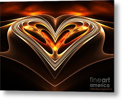Burning Desire Metal Print by Sandra Bauser Digital Art