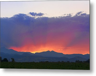 Burning Rays Of Sunset Metal Print by James BO  Insogna