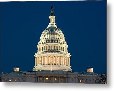 Burning The Midnight Oil Metal Print