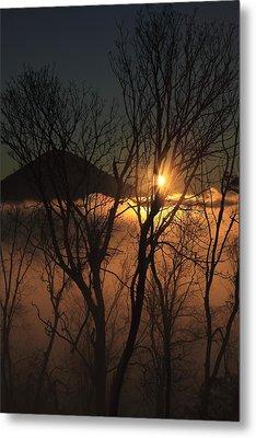 Burning Through The Fog Metal Print by Naman Imagery