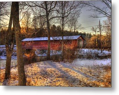 Burt Henry Covered Bridge - Bennington Vermont Metal Print by Joann Vitali